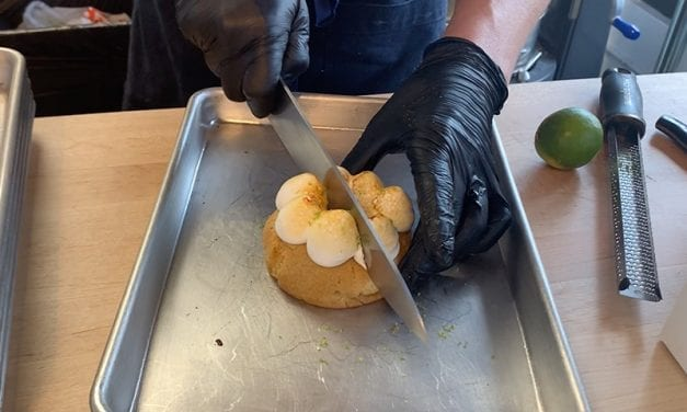 Chef Max Santiago Prepares a Key Lime Dessert at Batch Cookies