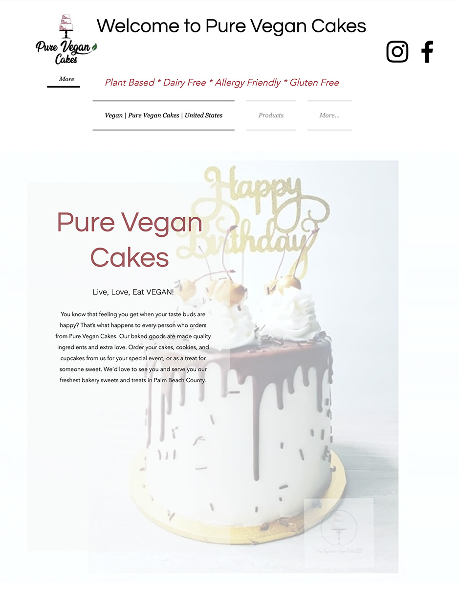 Pure Vegan Cakes